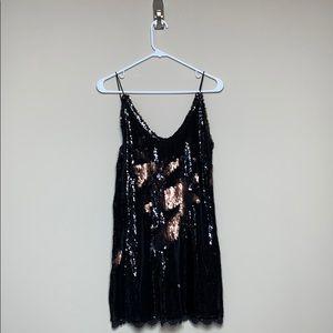 Intimately Free People Black & Bronze Sequin Dress